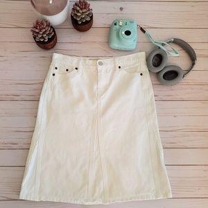 GAP Jeans White Denim Pencil Skirt Size 4